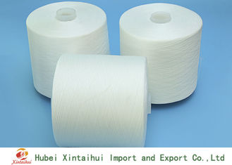 Raw White Knotless Polyester Sewing Yarn , Ne 40/2 Spun Polyester Yarn