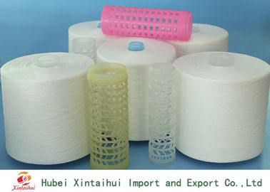 Ring Spun / TFO Polyester Raw White Yarn Recycled Eco Friendly Ne 30/1
