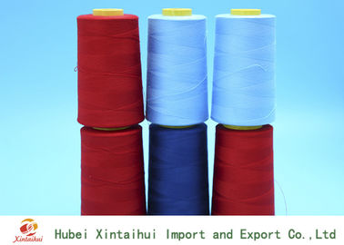 China 100 Polyester High Tenacity Spun Virgin Dyed Polyester Yarn for Knitting 50/2 supplier