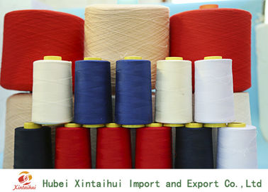 Multi Colored 100% Ring Spun Polyester Yarn for Textile Clothing High Strength