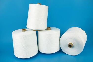 China Paper Cone Ring Spun Polyester Yarn Raw White Bright Color High Strength factory