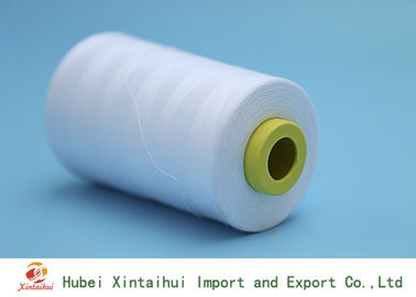 China Raw White 30s/1 100% Polyester Sewing Yarn No Knot Abrasion Resistance distributor
