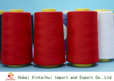 China 62s/2 Bright Red Color Spun Polyester Yarn for Sewing Machine with Paper Cone distributor
