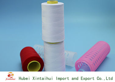China White / Dyed Color Polyester Spun TFO Yarn On Dyeing Paper Tube 40S/2 distributor