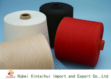 Multi Colored 100 Polyester Spun Yarn , Bright Polyester Core Spun Yarn