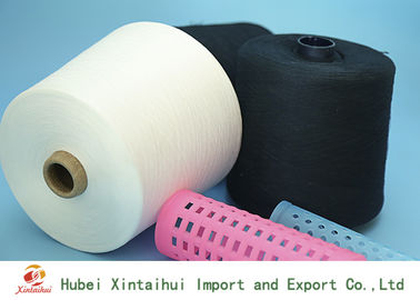 China Raw White / Dyed Polyester Core Spun Thread For Sewing Knitting And Weaving distributor