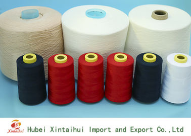 China Raw White / Dyed Spun Polyester Sewing Thread , 30/2 Spun Polyester Yarn  distributor