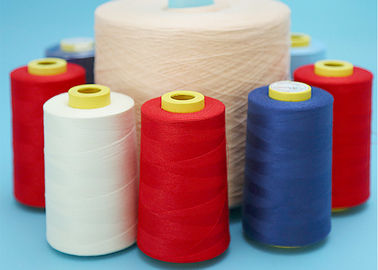 Raw White Spun Polyester Yarn Dyed Bright Polyester Sewing Thread 40s/2