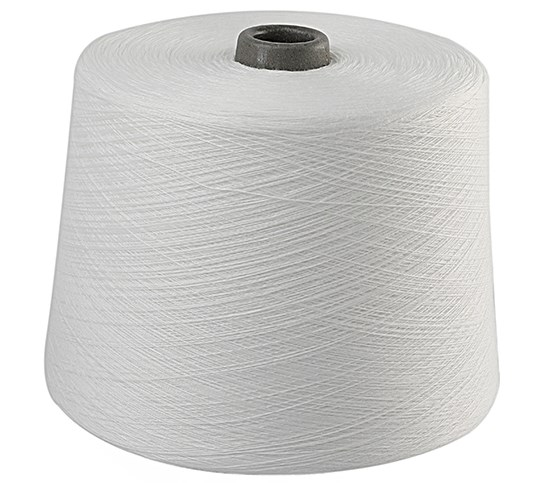Smooth Ring Spun Polyester Raw White Yarn On Paper Cone For Sewing Machine